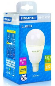 100 Watt LED Equivalent | Warm White | Bayonet B22 | MEGAMAN